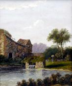 CHARLES GREVILLE MORRIS (born 1861) British Fishing the Mill Pond;