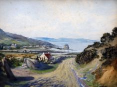 WILLIAM GUTHRIE (19th/20th century) British Loch Ramza From the Cock of Arran Road Watercolour and