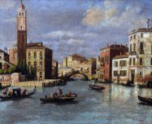 Manner of GIOVANNI ANTONIO CANAL (CANALETTO) (1697-1768) Italian Venetian Scene Oil on