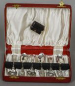 A matched set of six silver sundae spoons, hallmarked London 1823 and 1835,