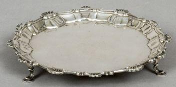 A George III silver waiter, hallmarked London 1761,
