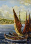 A. DUROS (20th century) Continental Marseille  Oil on canvas Signed 36.5 x 53.