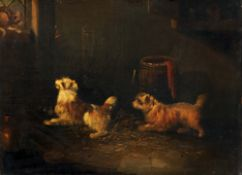 Attributed to GEORGE ARMFIELD (1808-1893) British Terriers Ratting;