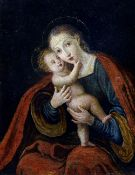 CONTINENTAL SCHOOL (17th/18th century)  Madonna and Child Oil on canvas 47.5 x 61.