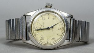A vintage Rolex Oyster Superking stainless steel wristwatch The dial approximately 3 cm diameter.