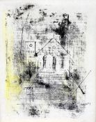 ALFRED BIRDSEY (1912-1996) Bermudan Church Mixed media Signed in pencil 39 x 49.