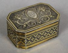 A George III silver gilt nutmeg grater, hallmarked London 1790,
