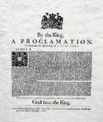 I The King, A Proclamation to Restrain the Spreading of False News Printed by Charles Bill,