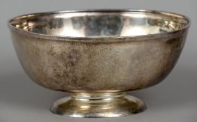 A George IV silver armorial centre bowl, hallmarked London 1826,
