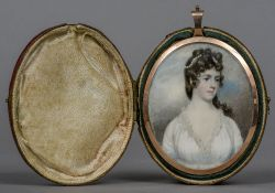 ENGLISH SCHOOL (18th/19th century) Portrait miniature of Katherine Rose,