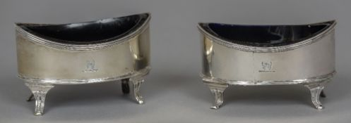 A pair of George III silver salts, hallmarked London 1815,