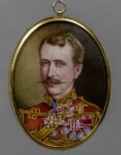 CONTINENTAL SCHOOL (19th century) Portrait of General Tarr, died 1845, aged 79 Enamels on copper,