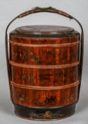 A 19th/20th century Japanese lacquered wood marriage chest and cover Of three sections and