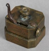 A 19th century scarifier Of typical form, the brass body inscribed Thos. Read & Co.