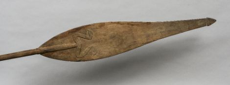 A 19th century tribal paddle,
