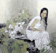 JAING CHAO (born 1958) Chinese Splendid Watercolour on rice paper Signed with calligraphic text and