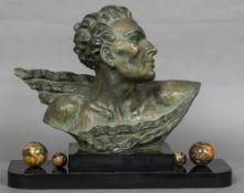 FOURNIER (19th/20th century) Continental Bust Bronze,