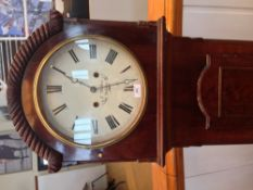 A 19th century mahogany cased longcase clock The white dial with Roman numerals inscribed Mullen,