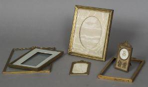 Six various gilt metal portrait and portrait miniature frames Various sizes.