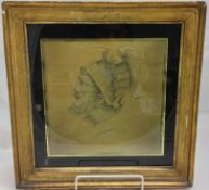 An early 19th century hair and silk picture Depicting a Centurion,