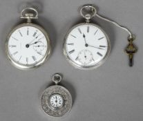 A 19th century Russian silver 1 Ruble coin fob watch Together with a Waltham silver plated pocket