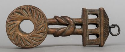 An unusual carved treen hanging,
