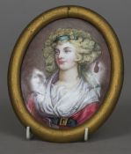 An 18th/19th century enamel plaque,