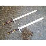 Masonic - two ceremonial swords 97 cm (l) (2)