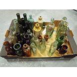 Vintage Bottles - a vintage bottles to include advertising bottles by J & W Hall & Sons Ltd Walkden