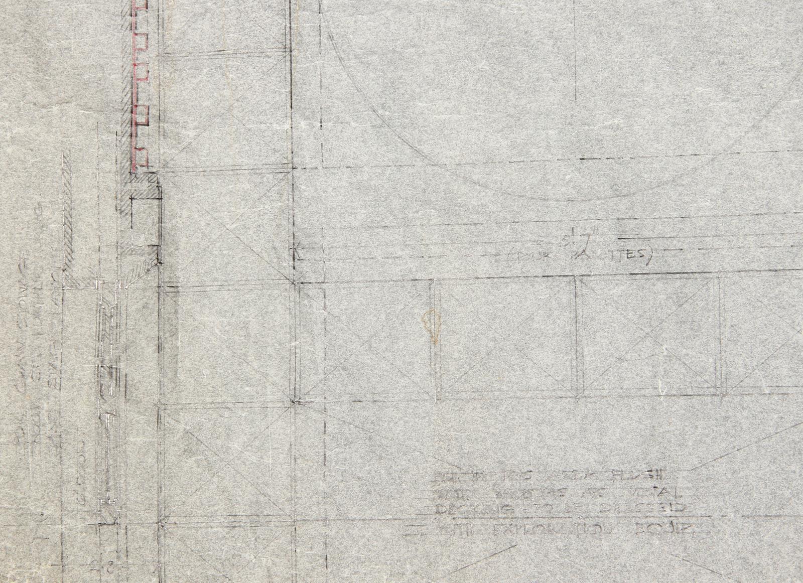 ALIEN (1979) - Hand-Drawn Nostromo Hangar Pencil Illustration A hand-drawn pencil set illustration - Image 8 of 11
