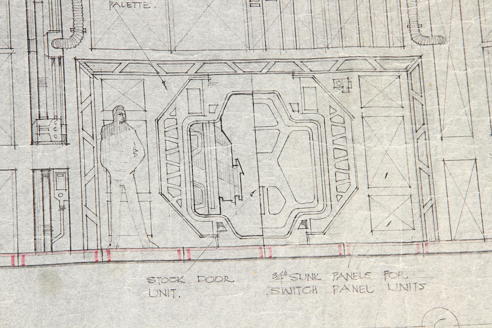 ALIEN (1979) - Hand-Drawn Nostromo Hangar Pencil Illustration A hand-drawn pencil set illustration - Image 2 of 11