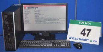 HEWLETT PACKARD Compaq Pro 6005 2.8GHZ Core 2 Duo Desktop Personal Computer with 320GB Hard Disc