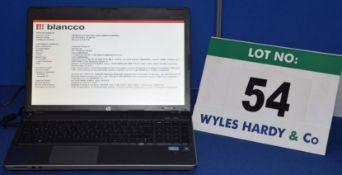 HEWLETT PACKARD Probook 4530s Intel i3 2.10GHZ Laptop Personal Computer with 320GB Hard Disc