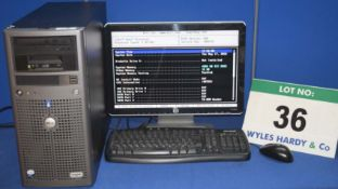 DELL Power Edge 840 Intel Xeon 2.4GHZ Quad Core Tower Server with 748GB Hard Disc Drive, 4.0GB