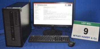 A HEWLETT PACKARD Pro Desk Intel Core i5 3.25GHZ Quad Core Mini Tower Personal Computer with 500GB