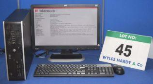 HEWLETT PACKARD Compaq Pro 6300 Intel Core i5 Desktop Personal Computer with 500GB Hard Disc