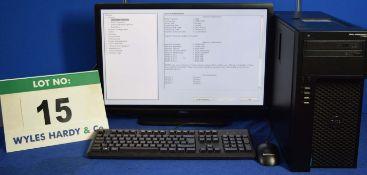 DELL PRECISION T1700 Intel Core i7 3.4GHz Mini Tower Personal Computer, Serial No: 12BVW02 with
