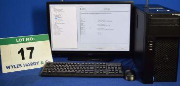 DELL PRECISION T1700 Intel Core i7 3.4GHz Mini Tower Personal Computer, Serial No: 22BVW02 with 1.
