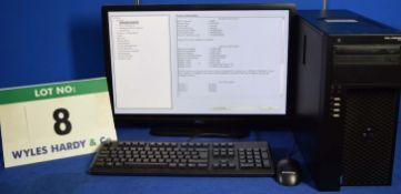 DELL PRECISION T1700 Intel Core i7 3.4GHz Mini Tower Personal Computer, Serial No: 6L78422 with