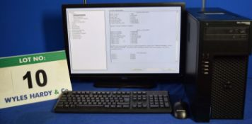 DELL PRECISION T1700 Intel Core i7 3.4GHz Mini Tower Personal Computer, Serial No: 4FRZQ02 with