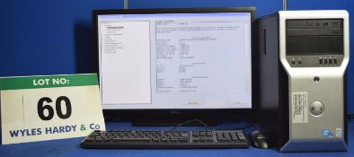 DELL Precision T1600 Xeon 3.4GHz Quad Core Mini Tower Personal Computer with 250GB & 500GB Hard Disc