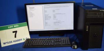 DELL PRECISION T1700 Intel Core i7 3.4GHz Mini Tower Personal Computer, Serial No: 2SQ3Q02 with