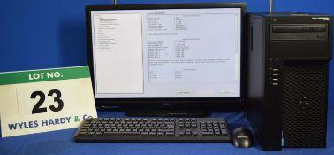 DELL PRECISION T1700 Intel Core i7 3.4GHz Mini Tower Personal Computer, Serial No: 9L78422 with