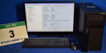 DELL PRECISION T1650 Intel Core i7 3.4GHz Mini Tower Personal Computer, Serial No: FJ09KYI with