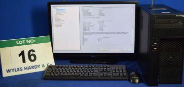 DELL PRECISION T1700 Intel Core i7 3.4GHz Mini Tower Personal Computer, Serial No: FDKBQ02 with