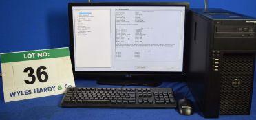 DELL PRECISION T1700 Intel Core i7 3.4GHz Mini Tower Personal Computer, Serial No: BDKBQ02 with