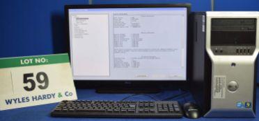 DELL Precision T1600 Xeon 3.4GHZ Quad Core Mini Tower Personal Computer with 2: 500GB Hard Disc