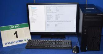 DELL PRECISION T1700 Intel Core i7 3.4GHz Mini Tower Personal Computer, Serial No: FL79422 with 1.