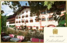 7 nights half board stay in the Austrian Alps in the Tauern National Park at Lukashansl. The voucher
