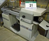 A MATHIAS BAUERLE Multipli 35 Folder with In-Feed & Off-Take Table